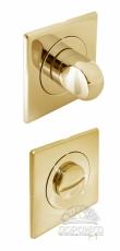 Сан тех завертка квадратная золотого цвета для дверных ручек Luxury
