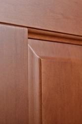 Межкомнатная дверь из ольхи массив цвет Орех светлый - фото