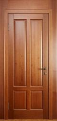 Межкомнатная дверь из ольхи массив цвет Орех светлый