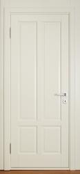 Лира - дверь из массива березы цвета Слоновая кость