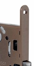 AGB Mediana Evolution межкомнатный дверной замок бесшумный —  крашенная бронза