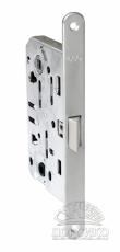 AGB Mediana Evolution замок с бесшумной защелкой для межкомнатных дверей —  хром матовый