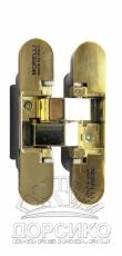 Петли скрытой установки для межкомнатных дверей Morelli HH-2 полированная латунь