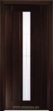 Деревянная дверь со стеклом из массива бука Моцарт Блюм Индастри в цвете Грецкий орех