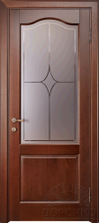 Наполеон — дверь из массива дерева со стеклом