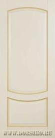 Дверь межкомнатная из массива бука Ремарк без стекла Бежевая с патиной Карамель Блюм Индастри
