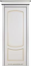 Межкомнатная дверь из бука Ремарк Бисквит с патиной Мокко без стекла Блюм Индастри