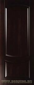 Межкомнатная буковая дверь из массива Ремарк Грецкий орех со стеклом BLUM Industry