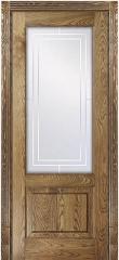 Межкомнатная филенчатая дверь Рубенс Рустик Блюм Индастри из наборного массива ясеня