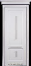 Крашенная дверь межкомнатная из бука Вагнер льняная эмаль с патиной Иней Блюм Индастри