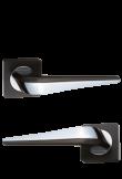 """Ручка дверная """"Фиоре"""" чёрный + хром"""