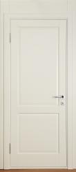Кантри из березы - дверь белая крашеная