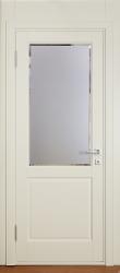 Кантри - межкомнатная крашенная белая дверь из ольхи массив