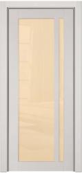 Буковая дверь с глянцевым светлосерым покрытием - Альбани