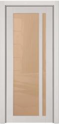 Остекленная глянцевая дверь из 100% массива кавказского бука Альбани