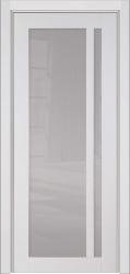Альбани ПО - белая крашенная глянцевая дверь из массива бука