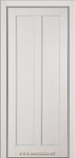 Остекленная межкомнатная дверь из бука Амати Блюм Индастри серая эмаль с патиной лаванда