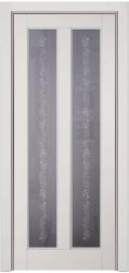Амати ПО - светло-серая окрашенная эмалью дверь из массива с патиной Серебро