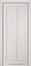 Межкомнатная дверь Амати из массива бука с глухими филенками Блюм Индастри серая и серебро