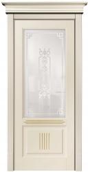Державин ПО - бежевая, покрытая эмалью Hesse дверь из бука с патиной Карамель