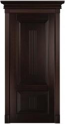 Филенчатая дверь из бука массив с тонировкой Hesse - Грецкий Орех, глухое полотно