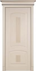 Суворов - крашенная дверь из букового массива - эмаль Бисквит и Мокко