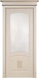 Дверь крашеная эмалью Бисквит с патиной - 100% массив переклеенного бука