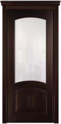 """Суворов - темная классическая дверь из массива бука """"Грецкий орех"""""""